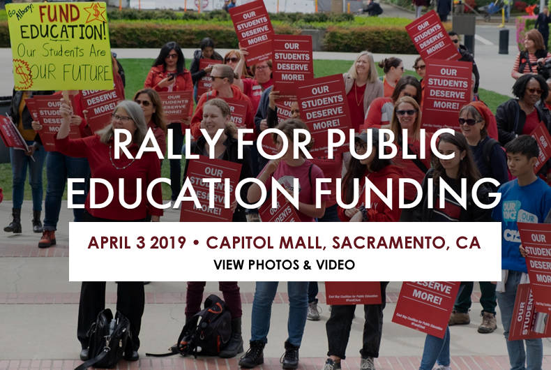 rally for public ed funding
