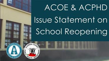 Joint Statement: Statewide School Reopening Guidance