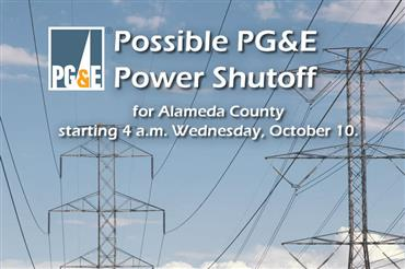possible power shutoffs in Alameda County