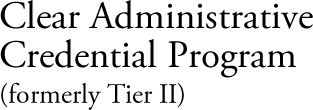 clear administrative credential program