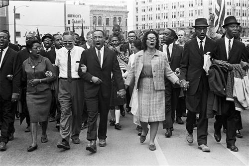 MLK marching from Selma