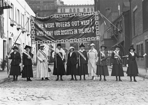 Women's Suffrage march, New York City, 1912