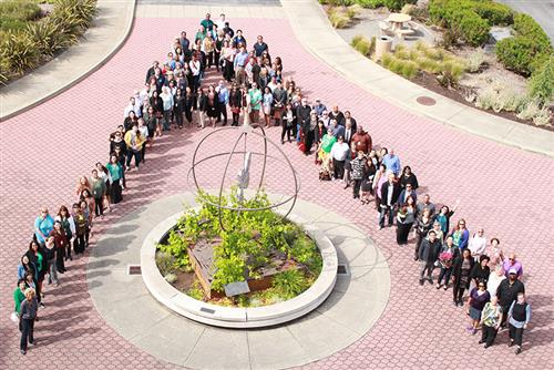 Aerial view of ACOE staff.